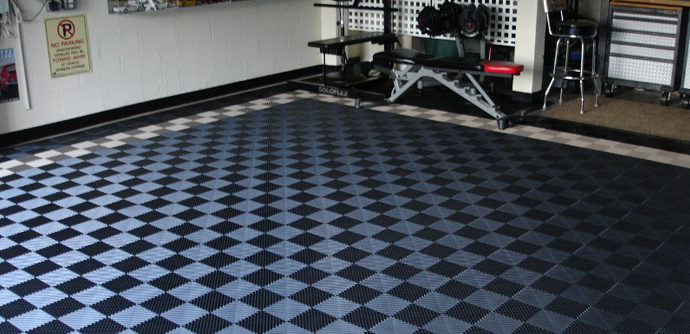 Ribbed Portable Interlocking Flooring Tiles