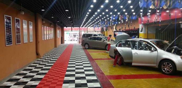 Perforated Textured Polypropylene Modular Garage Flooring Tiles