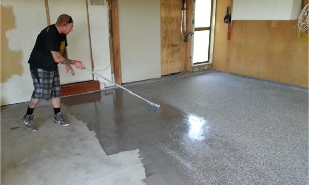 I Paint My Concrete Garage Floor